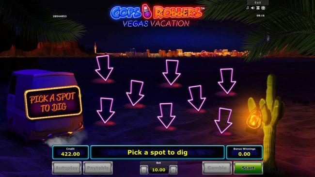 Cops 'n' Robbers Vegas Vacation :: Bonus Feature Game Board