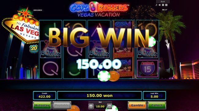 Cops 'n' Robbers Vegas Vacation :: Big Win