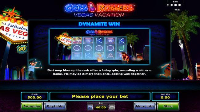 Cops 'n' Robbers Vegas Vacation :: Dynamite Win