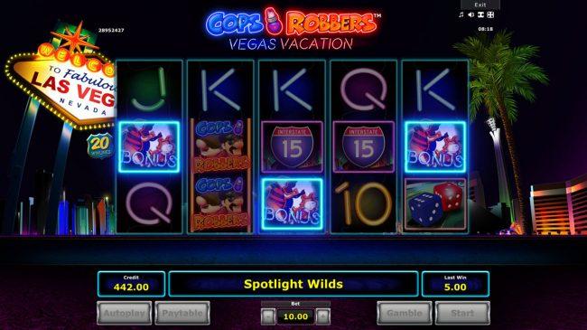 Cops 'n' Robbers Vegas Vacation :: Bonus feature triggered