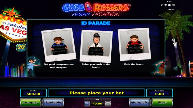 Cops 'n' Robbers Vegas Vacation :: ID Parade