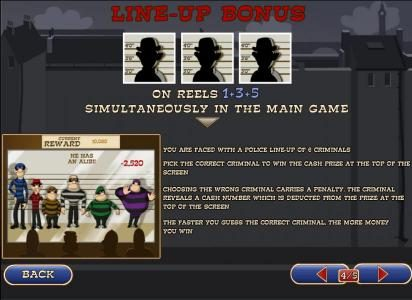 line-up bonus on reels1+3+5 simultaneously in the main game
