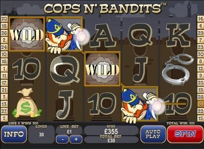 Omni featuring the Video Slots Cops N' Bandits with a maximum payout of $80,000