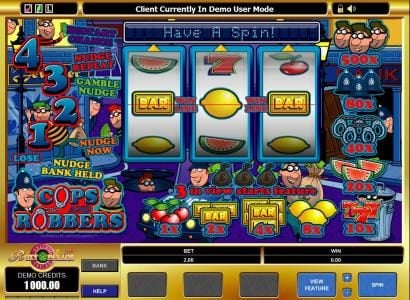 Play slots at Vegas Palms: Vegas Palms featuring the Video Slots Cops And Robbers with a maximum payout of $5,000