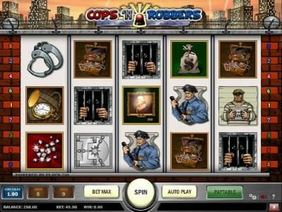 Play slots at All Wins Casino: All Wins Casino featuring the Video Slots Cops 'N Robbers with a maximum payout of $3,000