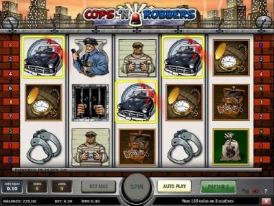 Casino Pop featuring the Video Slots Cops 'N Robbers with a maximum payout of $3,000