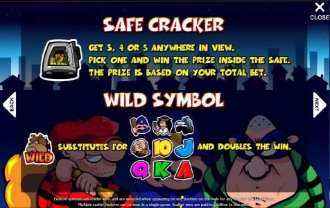 safe cracker and wild symbols rules