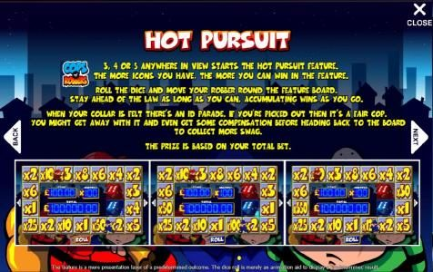 how to play hot pursuit bonus feature