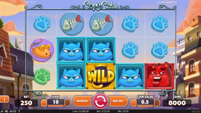 Dragonara featuring the Video Slots Copy Cats with a maximum payout of $2,000
