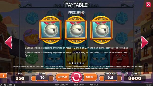 Lord of the Spins featuring the Video Slots Copy Cats with a maximum payout of $2,000