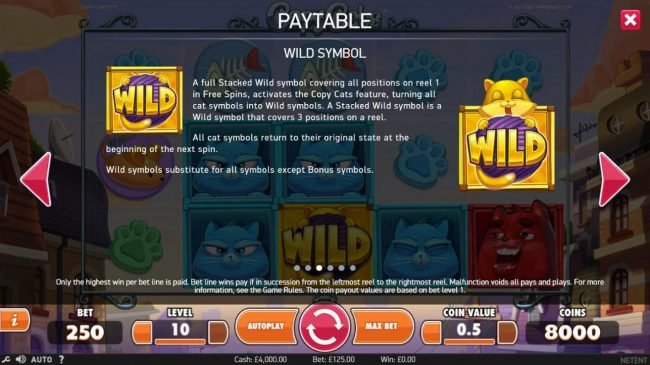 Casino Cruise featuring the Video Slots Copy Cats with a maximum payout of $2,000