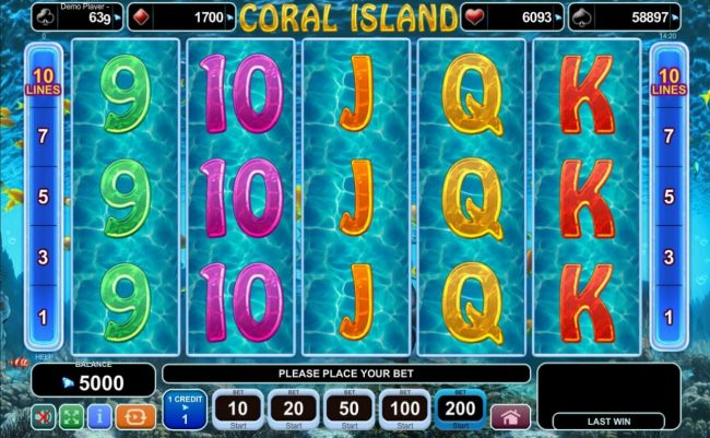 Play slots at Queen Vegas: Queen Vegas featuring the Video Slots Coral Island with a maximum payout of $200,000