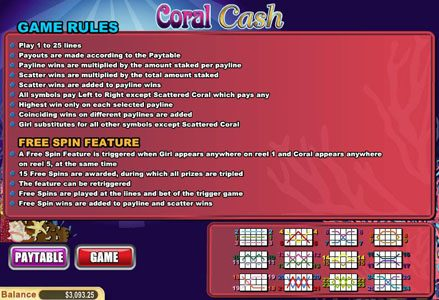 Play slots at Miami Club: Miami Club featuring the Video Slots Coral Cash with a maximum payout of $80,000