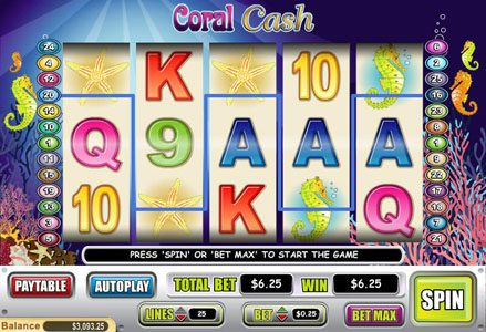 Play slots at Red Stag: Red Stag featuring the Video Slots Coral Cash with a maximum payout of $80,000