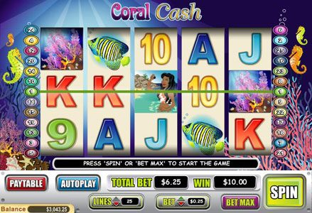 Red Stag featuring the Video Slots Coral Cash with a maximum payout of $80,000