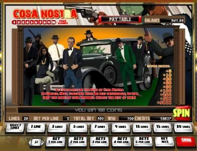 Play slots at Casdep: Casdep featuring the Video Slots Cosa Nostra with a maximum payout of $100,000
