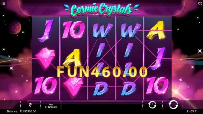 Play slots at Karamba: Karamba featuring the Video Slots Cosmic Crystals with a maximum payout of $50,000