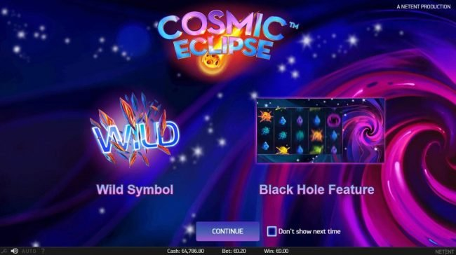 Play slots at Wixstars: Wixstars featuring the Video Slots Cosmic Eclipse with a maximum payout of $60,000