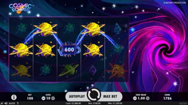 Spin Hill featuring the Video Slots Cosmic Eclipse with a maximum payout of $60,000