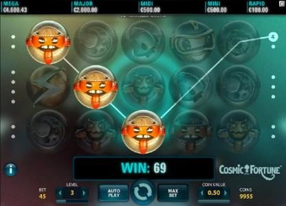 Casino Extra featuring the Video Slots Cosmic Fortune with a maximum payout of $7,500