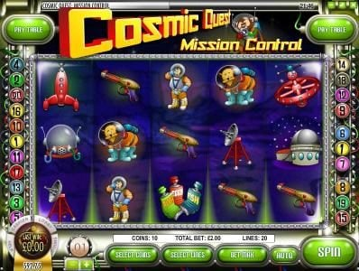 Play slots at Dendera: Dendera featuring the Video Slots Cosmic Quest Mission Control with a maximum payout of $12,500