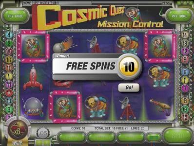 Winward featuring the Video Slots Cosmic Quest Mission Control with a maximum payout of $12,500