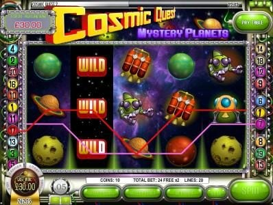 Cafe featuring the Video Slots Cosmic Quest Mystery Planets with a maximum payout of $12,500