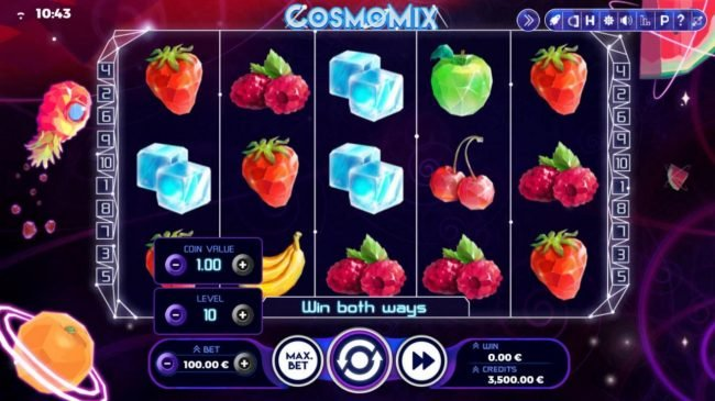Cosmomix :: Click the BET button to adjust the stake level