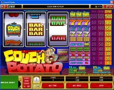 Royal Vegas featuring the Video Slots Couch Potato with a maximum payout of $225,000