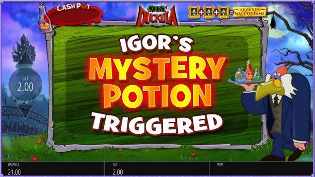 Igors Mystery Potion feature triggered.
