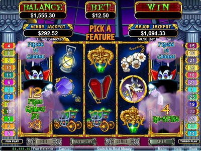 Slots Empire featuring the Video Slots Count Spectacular with a maximum payout of $250,000