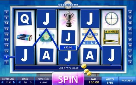 888 Casino featuring the Video Slots Count Down with a maximum payout of 5,000