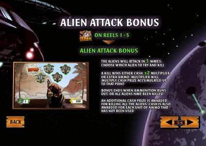 the aliens will attack in 3 waves, choose which alien to try and kill