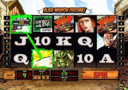 Magic Box featuring the Video Slots Cowboys & Aliens with a maximum payout of $1,000,000