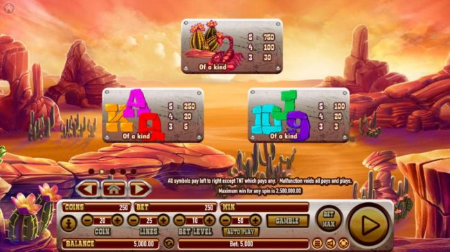 emu Casino featuring the Video Slots Coyote Crash with a maximum payout of $2,500,000