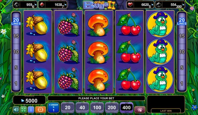 Play slots at Videoslots: Videoslots featuring the Video Slots Crazy Bugs II with a maximum payout of $4,000,000