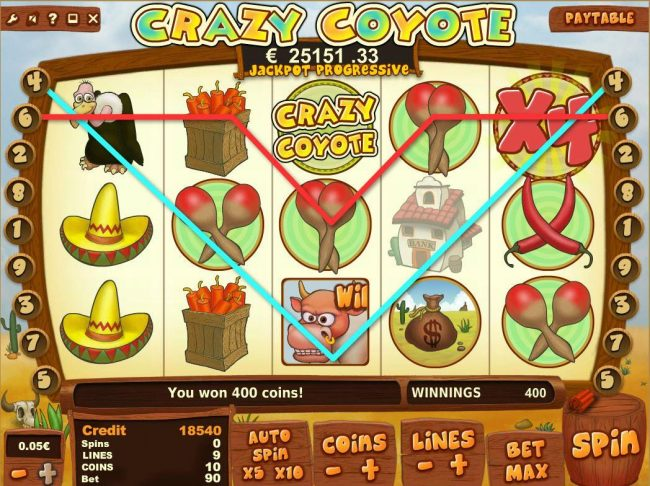 Loki Casino featuring the Video Slots Crazy Coyote with a maximum payout of Jackpot