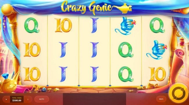 Play slots at Reel Vegas: Reel Vegas featuring the Video Slots Crazy Genie with a maximum payout of $7,500