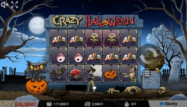 CryptoWild featuring the Video Slots Crazy Halloween with a maximum payout of $200,000