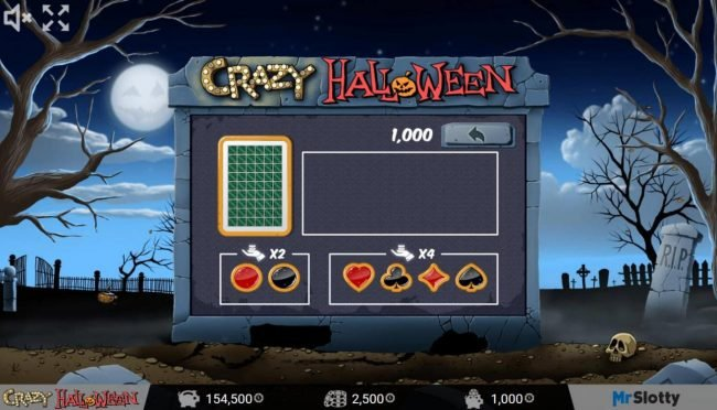 Jellybean Casino featuring the Video Slots Crazy Halloween with a maximum payout of $200,000