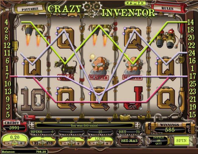 Play slots at Karamba: Karamba featuring the Video Slots Crazy Inventor with a maximum payout of $250,000