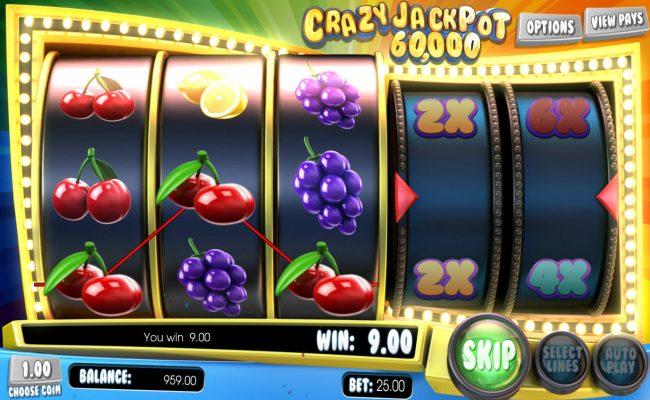 Crazy Jackpot 60,000 :: Winning three of a kind