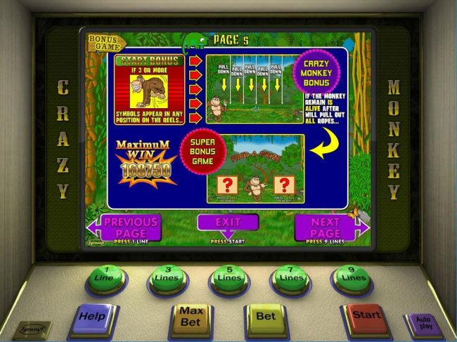 Yoyo featuring the Video Slots Crazy Monkeys with a maximum payout of $151,875