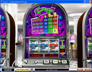 Class 1 Casino featuring the Video Slots Crazy 7 with a maximum payout of $6,000