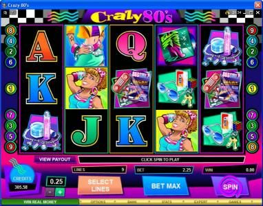 Play slots at Vegas Joker: Vegas Joker featuring the Video Slots Crazy 80s with a maximum payout of $25,000