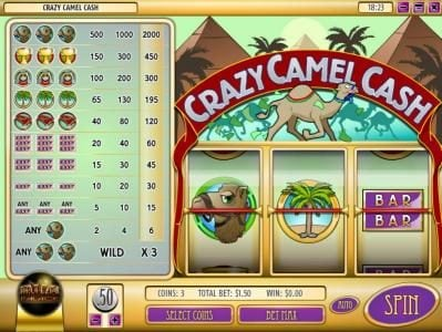 Play slots at Gibson: Gibson featuring the Video Slots Crazy Camel Cash with a maximum payout of $60,000