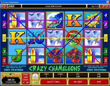 Betive featuring the Video Slots Crazy Chameleons with a maximum payout of $25,000