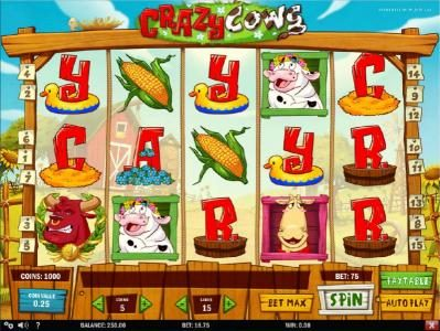 Play slots at Shadowbet: Shadowbet featuring the Video Slots Crazy Cows with a maximum payout of $625
