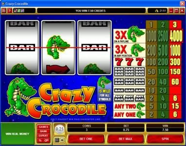 Play slots at Phoenician: Phoenician featuring the Video Slots Crazy Crocodile with a maximum payout of $60,000