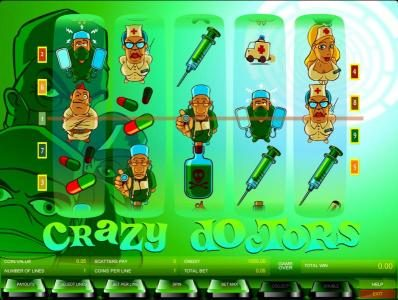Long Harbour featuring the Video Slots Crazy Doctors with a maximum payout of $2,500